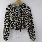 Women's Wild Fable Animal Print Sherpa Sweatshirt