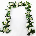 16heads Artificial Faux Silk Flower Rose Leaf Garland Vine Home Party Decor 7ft