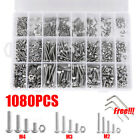 1080PCS M2 M3 M4 Screw Bolts&Nuts & Washer Set Hex Head Cap Stainless Steel Kit
