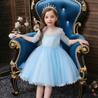Kids Flower Girls Party Tutu Lace Party Dress Bridesmaid Wedding Prom Gown 0-6Y