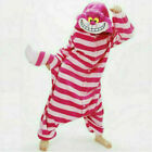 Adults Unisex Pajamas Kigurumi Onsie1 Animal Cheshire Cat Cosplay Costumes S-XL