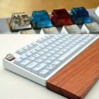 Snow Mist Landscape Keycaps Resin Wood Handmade Switch Key Cap For Cherry MX