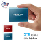 USB High Speed Type-C 3.1 Portable 2 TB SSD External Solid State Drive Storage