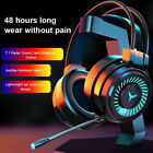 3.5mm Gaming Headset Mic Led Game Headphones Surround Sound For Pc Laptop Tt Au