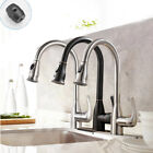 High Arc Kitchen Faucet Single Handle Brass with Pull Out Sprayer Sink Mixer Tap