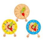 Wooden Teaching Clock Toys for 3-5 Year Old Boys Girls Birthday Gift