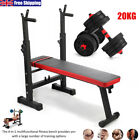 'Multi-station Weight Bench/dumbbells Set Press Rack Weights Fitness Home Gym Uk