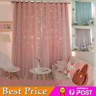 2x Blockout Blackout 2 Layers Thermal Insulated Eyelet Window Curtains Draperies