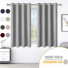 """2 Panels Blackout Window Curtains Thermal Insulated Drapes For Bedroom 52""""/42"""""""