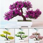 Artificial Fake Flower Plant Bonsai Potted Simulation Tree Home Office Decor Uk