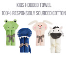 EX-M&S Responsibly Sourced Cotton Hooded Kids Bath Boy Girl Towel Wrap Toddler