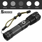USB Cable High Powered 900000LM LED Flashlight Zoomable Work Light Torch XHP90