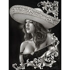 Внешний вид - Ceeze Charra by Big Ceeze Sexy Mexican Girl Tattoo Unstretched Canvas Art Print