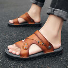 Mens Open toe Buckle Summer Casual Beach Slippers Shoes Sports Outdoor Sandals z