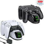 For PS4/Pro/Slim PS5 Wireless Controller Charger Station Dual Fast Charging Dock