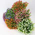 10 Bundles Artificial Flowers Plastic Fake Outdoor Plants Garden Home Decor