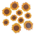 5Pcs Sunflower Sew on/Iron on Embroidered Patch Diy Craft Clothes AppliquY VV