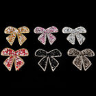 Rhinestones Bow Embroidered Patch Iron on Sewing Crystal Applique For JeanY VV