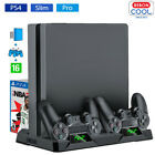 For PS4 Pro / Slim Vertical Stand + Cooling Fan Controller Charger Dock Station