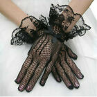 1 Pairs Wrist Length Flower Lace White Finger Bridal Wedding Party Prom GlovO VV