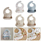 Waterproof Adjustable Silicone Bibs for Baby Toddler Feeding Cloth BPA Free