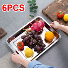 """6 Pack Full Size 2""""/4"""" Deep 8.5/13L Stainless Steam Table Buffet Pans NEW"""