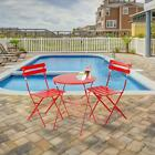 3 PCS Folding Table & Chairs Set Picnic Patio Furniture Caming Hiking Outdoor