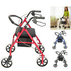 Aluminum Upright Rollator Walker Stand Up Rolling Walker+Padded Seat 300lbs US