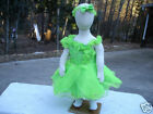 NEW BO21 Lime Green Pageant Dress Set Incl Bloomers, Headband, Socks 3M, 12M