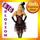 BAK Kiss Burlesque Moulin Rouge Corset Skirt 8 10 12 14