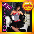 5091 Black Red Burlesque Lolitta Corset Tutu Skirt 8-14