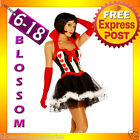 821 Queen of Hearts Alice In Wonderland Costume & Tiara