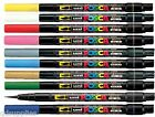 UNI POSCA MARKER PCF-350 PAINT PEN BRUSH TIP 8mm COLOURED NON TOXIC ANY SURFACE