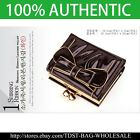 [OMNIA] Korea Crystal  Ladies Wallet Genuine Leather Trifold ID Card Coins Bow image