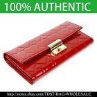 [OMNIA]Crystal KoreaLadies Genuine Leather Purse Trifold Checkbook Wallet-KR302L image