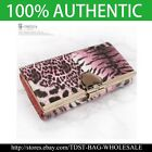 [OMNIA]Crystal Ladies Clutch Leopard Genuine Leather Purse Long Wallet Trifo365L image
