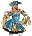 Adult Women's 4 Piece BLUE MARIE ANTOINETTE Costume! Sizes S/M and M/L