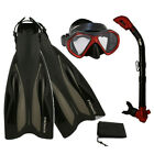 PROMATE Deluxe Snorkeling Diving Gear Mask Fins Set