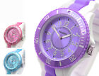 Henley Ladies Big Watch Rubber strap Choice of colours