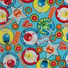 Candy Fleece Fabric - M&Ms, Hersheys - Various Prints and Various Sizes ***NEW