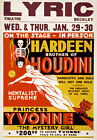 M49 Vintage Houdini Magic Theatre Poster Print A1 A2 A3