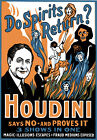 M52 Vintage Houdini Magic Theatre Poster Art A1 A2 A3