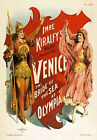 TH44 Vintage Venice Drama Theatre Poster Art A1 A2 A3