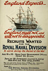 W99 Vintage WWI British Royal Navy War Recruitment Poster Re-Print WW1 A1 A2 A3