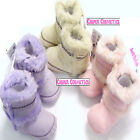 Baby Fur Trim Pastels Range Warm Boots in Pink, Cream or Lilac 3 Sizes 6-15mths
