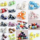 Various Colors Murano Ceramic Porcelain Charms European Bracelet Beads Finding