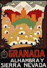 TT75 Vintage Granada Sierra Nevada  Spain Spanish Travel Poster - A3/A2