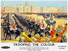 TT95 Vintage Trooping The Colour London Railway Travel Poster Re-Print A3 A2