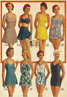 "AV9 Vintage 1950's Swimwear Swimming Costume Advertisment Poster A3 17""x12"""