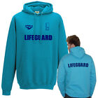 Bondi Rescue Style Surf Blue LIFEGUARD Hoodie ALL SIZES Front + Back Printed